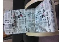 Perge poťah Kara news, 100% polyester,