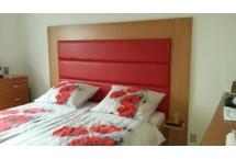 Záhlavie postele Tana z pravej kože,